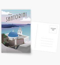 Besuchen Sie Santorini Griechenland: Retro / Vintage Travel Poster Postkarten