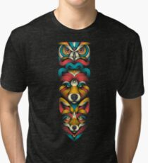 Forest Animals Totem Tri-blend T-Shirt