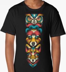 Forest Animals Totem Long T-Shirt