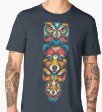 Forest Animals Totem Men's Premium T-Shirt