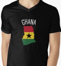 Ghana Men's V-Neck T-Shirt