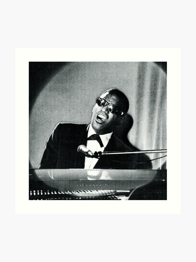 Ray Charles Portrait (Public Domain) | Art Print