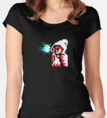8 Bit White Mage Women's Fitted Scoop T-Shirt