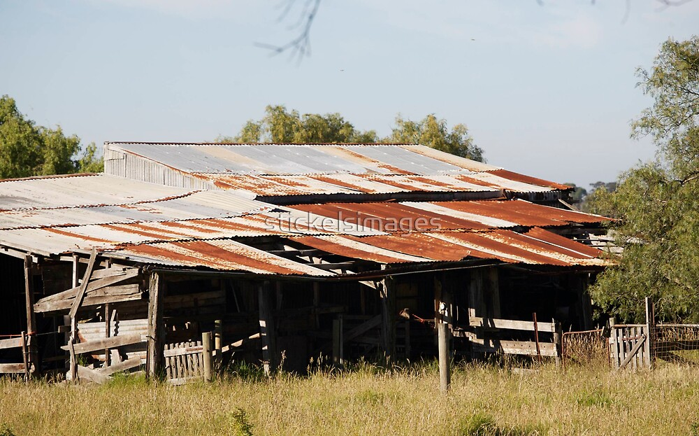 farmscapes #54, farm shed by stickelsimages