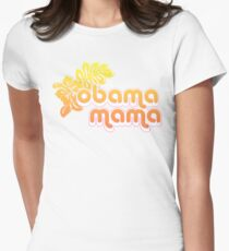 obama mama Womens Fitted T-Shirt