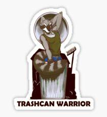 Trashcan Warrior Sticker