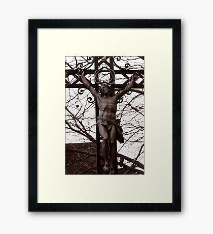 Christ Among the Ruins Framed Print