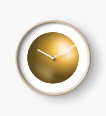 Sphere, Gold, Golden, Golden Balls, 3D, Ball, Geometry Clock
