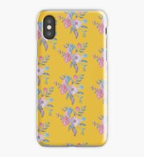 Yellow Floral Design iPhone Case/Skin