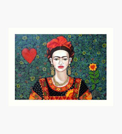 Frida,  Queen of Hearts closer I Art Print