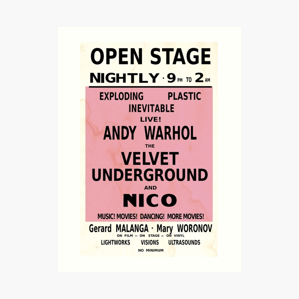 VELVET UNDERGROUND NICO ANDY WARHOL VINTAGE POSTER Art Print