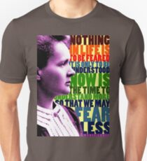Marie Curie Inspirational Quote T-Shirt