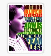 Marie Curie Inspirational Quote Sticker