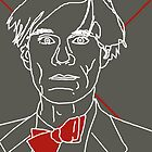 Andy Warhol red bow tie by adrienne75