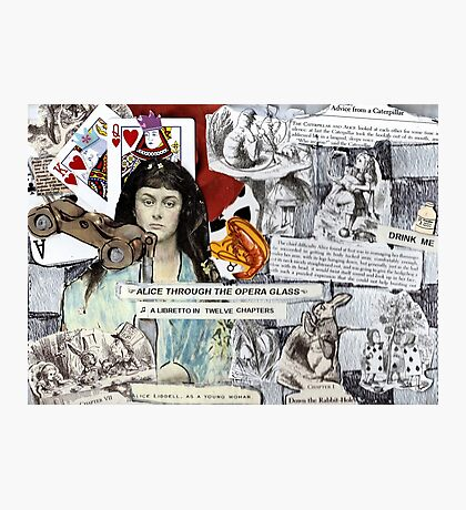 Alice Through The Opera Glass(best if viewed large) Photographic Print