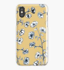 Yellow Flower Design iPhone Case