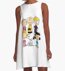 Peanuts - Charlie Brown, Snoopy A-Line Dress