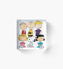 Peanuts - Charlie Brown, Snoopy Acrylic Block