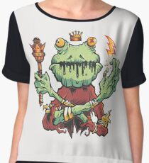 Frog King Chiffon Top