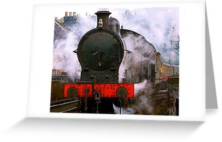 The Train Leaving by Trevor Kersley