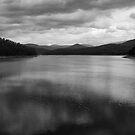 B&W Maroondah Dam by Joel McDonald