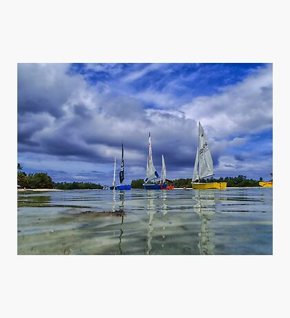 Sailing at Muri Beach Photographic Print