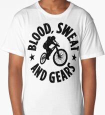 Blood Sweat and Tears Mountain Biking Gifts For Mountain Bikers Long T-Shirt