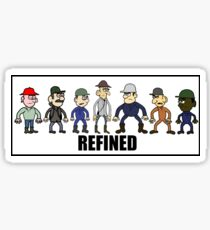 The Refined Crew Sticker
