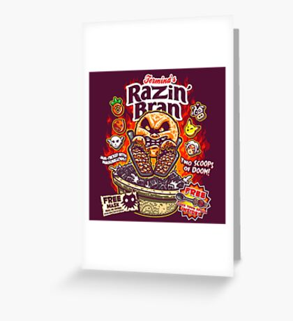 Razin' Bran Greeting Card