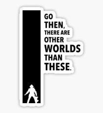 The Dark Tower - Worlds black Sticker