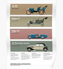 Historia del automóvil - Los primeros automóviles Poster