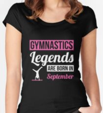 Gymnastics Legends Are Born In September Women's Fitted Scoop T-Shirt