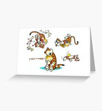 Calvin and Hobbes 9 Greeting Card