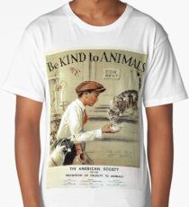Be Kind to Animals - Vintage Poster Long T-Shirt