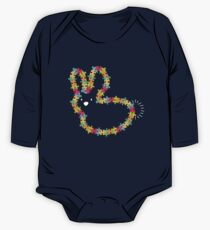 Colorful Jigsaw Baby Bunny with White Nose One Piece - Long Sleeve
