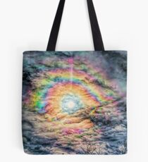 Gold-Streamed Clouds Tote Bag