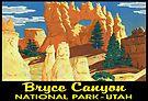 Bryce Canyon National Park Utah Vintage Bumper Luggage by MyHandmadeSigns