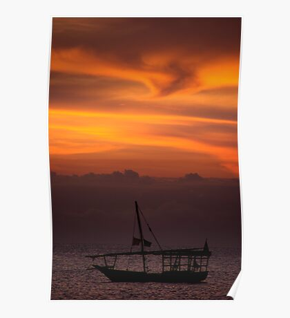 Dhow Sunset Poster