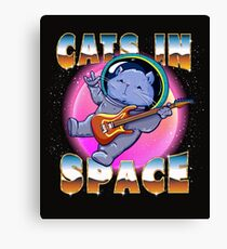 Cats In Space Canvas Print