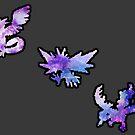 Galaxy Legendary Bird Trio by Hannahchu