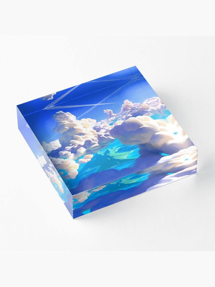 Alternate view of Ocean Clouds Acrylic Block