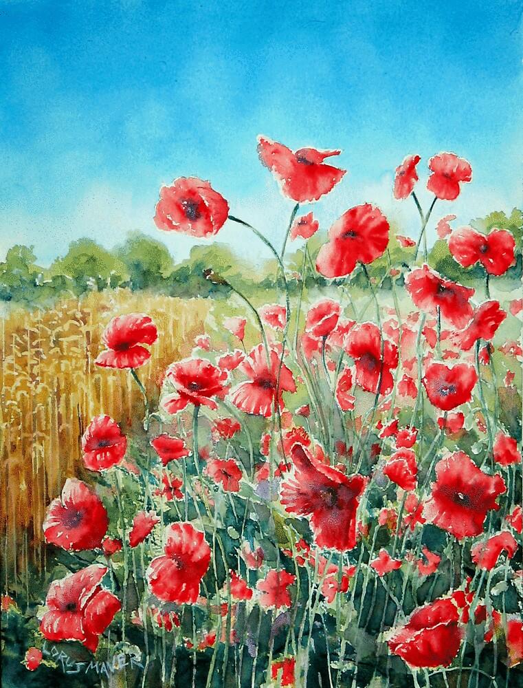 Sussex Poppies (Scarlet Dancers) by LorusMaver