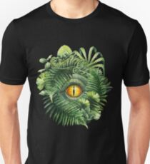 Watercolor dinosaur eye and prehistoric plants Unisex T-Shirt