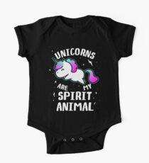 Unicorns Are My Spirit Animal One Piece - Short Sleeve