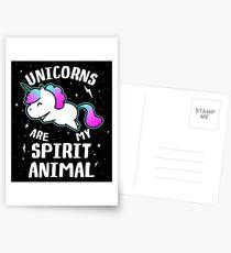 Unicorns Are My Spirit Animal Postcards