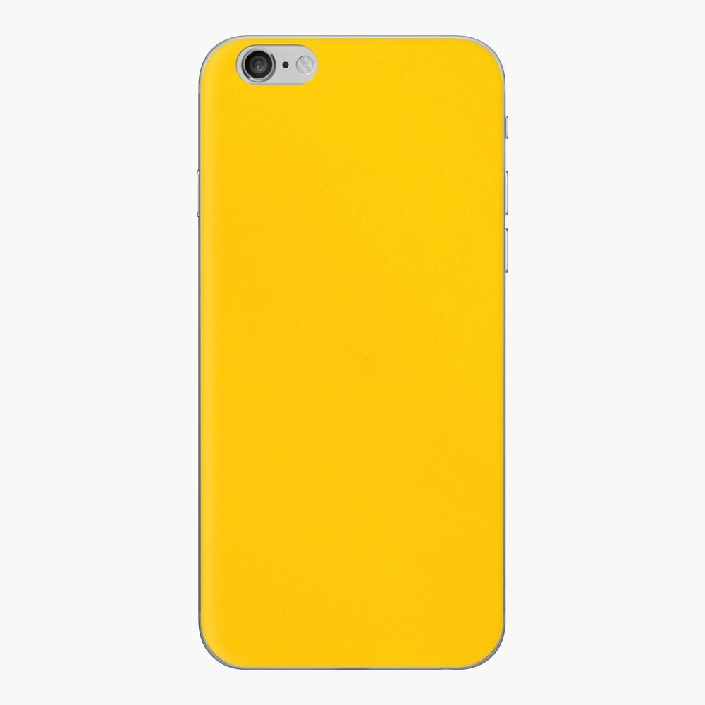 Gelbes Leder iPhone Klebefolie
