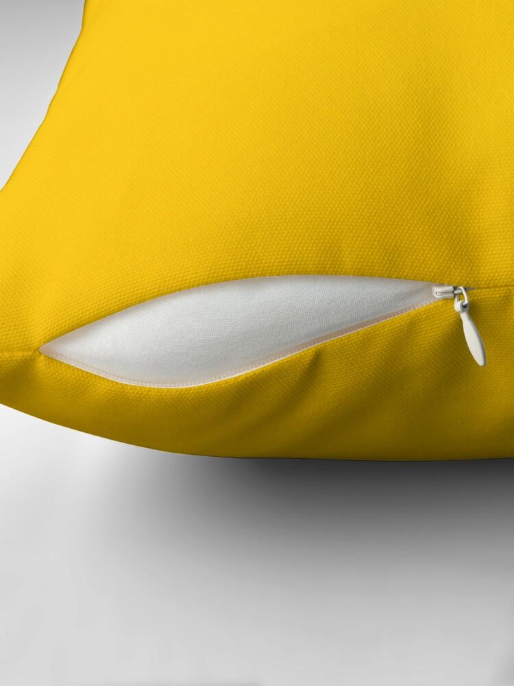 Alternative Ansicht von Gelbes Leder Dekokissen