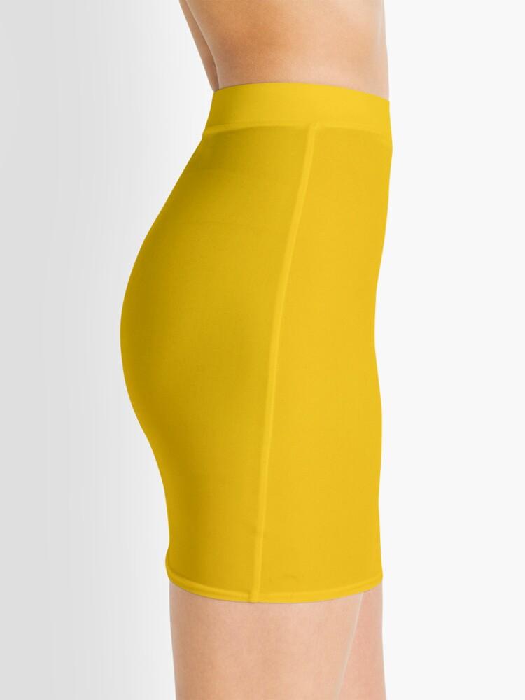 Alternative Ansicht von Gelbes Leder Minirock