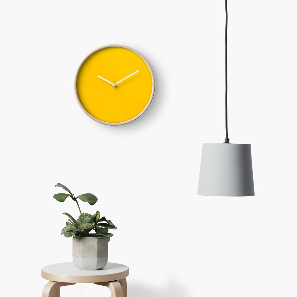 Yellow leather Clock