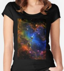 Galaxy Eagle Women's Fitted Scoop T-Shirt